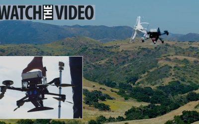 Drone Militer AS yang Dilengkapi Dengan Penubruk Menjatuhkan Drone Lain Sambil Terbang
