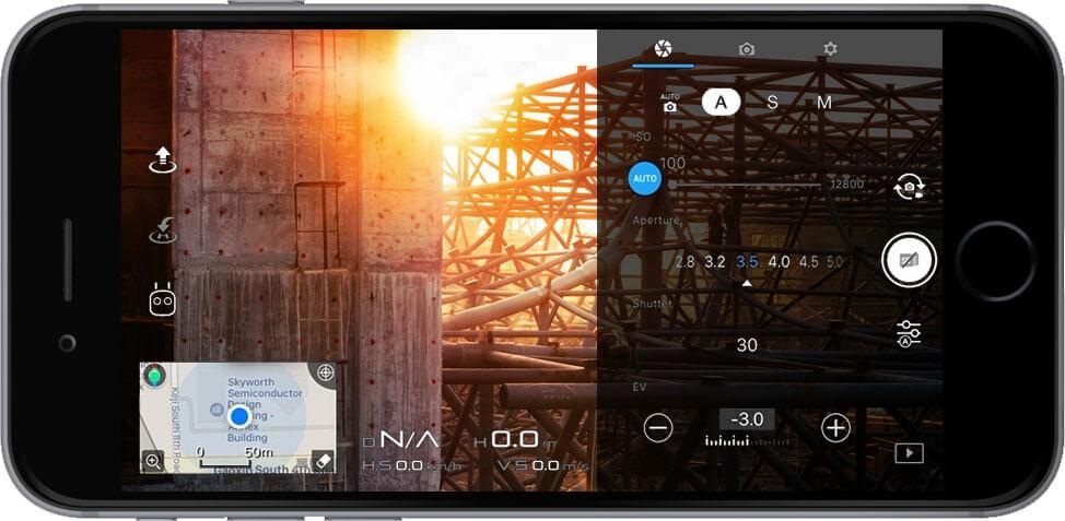 DJI GO 4 Manual : Pengaturan Kamera